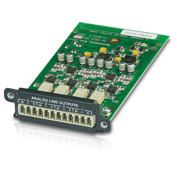 Symetrix 4 Channel Analog Out Card