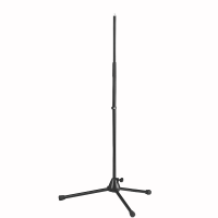 CAYMON CST301/B Straight microphone stand with foldable legs. Black version