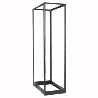 "CAYMON DPR942/B 4-post 19"" open-frame rack - 42 units - 550~1015 mm depth Black version"