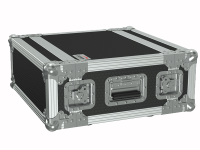 "CAYMON FCX104MK2/B 19"" flightcase - 4HE - 360mm depth - 19"" mounting profile on front & rear Black version - 19"" mounting profile on front & rear"