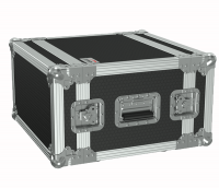 "CAYMON FCX106MK2/B 19"" flightcase - 6HE - 360mm depth - 19"" mounting profile on front & rear Black version - 19"" mounting profile on front & rear"