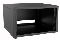 "CAYMON PR206/B 19"" rack cabinet - 6 units - 500mm depth Black"