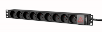 "CAYMON PSR109FS/B 19"" power distribution unit - 9 x French sockets + front switch Black version"
