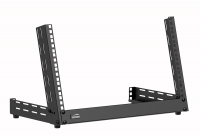 CAYMON TPR306A/B Desktop open frame rack - 6 units - Adjustable angle 0°~15° Black