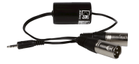 AUDAC TR2080 Stereo groundloop isolator 3.5mm jack male, 2 x XLR male