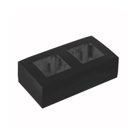 AUDAC WB45D/B Surface mount box double 45 x 45 mm, černý