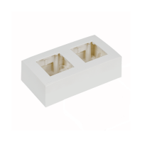 AUDAC WB45D/W Surface mount box double 45 x 45 mm, bílý